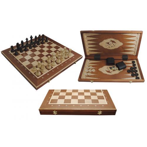 Шахматы Турнирные N5 + Шашки + Нарды, intarsia № 317004