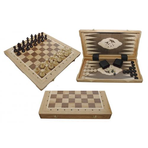 Шахматы Турнирные N5 + Шашки + Нарды Intarsia № 317605