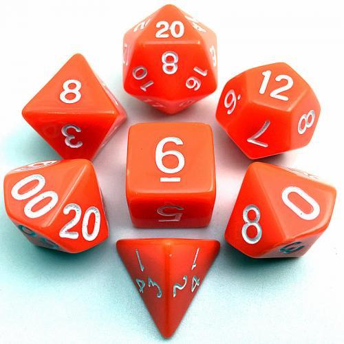 Набор кубиков RPG 7шт  (цвет в ассортименте)