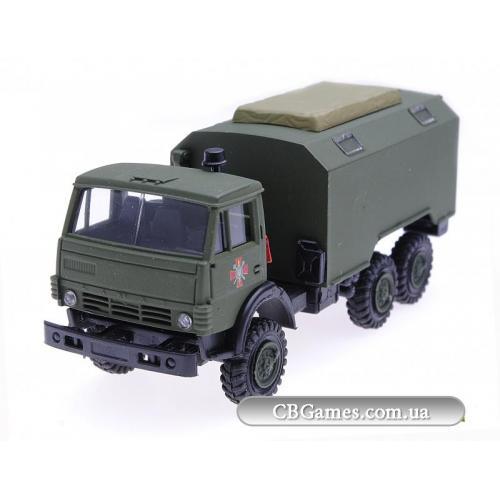 AMA140102  Камаз, Национальная гвардия, штабной кунг, вариант 1