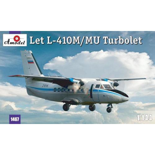 Чехословацкий самолет Let L-410M/MU Turbolet (AMO1467) Масштаб:  1:144