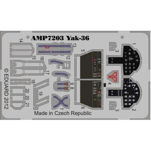 Фототравление на Як-36 (ART Model) (AMP7203) Масштаб:  1:72