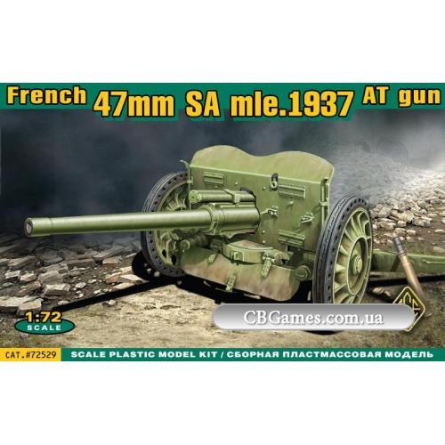 Французская противотанковая пушка 47 мм SA Mle 1937 (ACE72529) Масштаб:  1:72