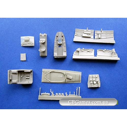 Me 410B-2/U4 кабина (MENG) (AIRES4585) Масштаб:  1:48