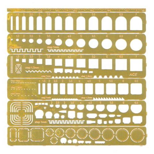 Набор шаблонов для нанесения расшивки (любой масштаб) (PEa001) Масштаб: