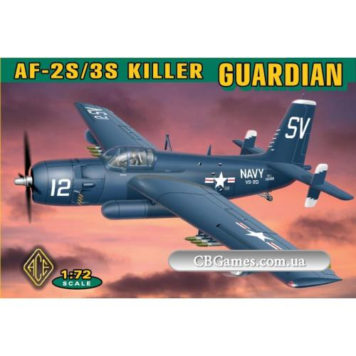 Противолодочная система Grumman AF-2S/3S (ACE72305) Масштаб:  1:72
