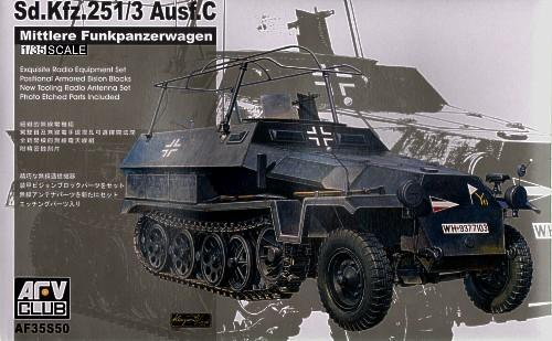 Sd. Kfz. 251/3 Ausf. C  (commander Vehicle) (AF35S50) Масштаб:  1:35