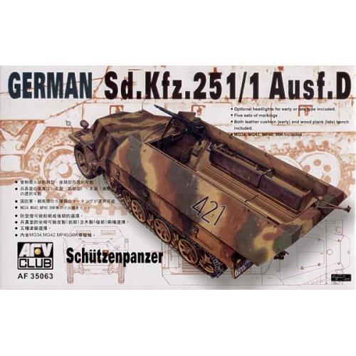 Sdkfz251 D/1   HALF TRUCK Schutzenpanzer (AF35063) Масштаб:  1:35