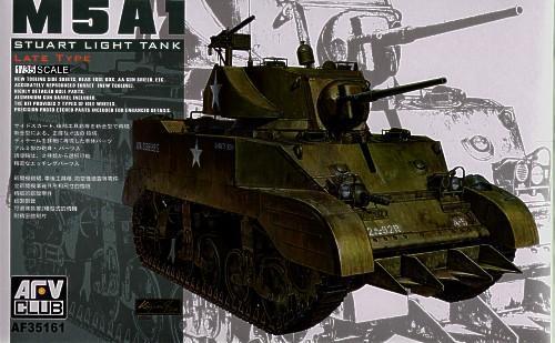 Танк M5A1 Stuart LATE TYPE (AF35161) Масштаб:  1:35