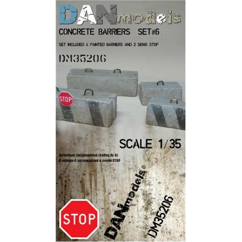 Бетонные заграждения (набор № 6) (DAN35206) Масштаб:  1:35