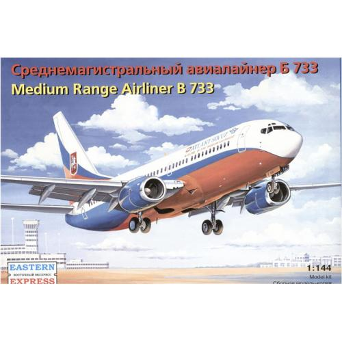 Боинг 733 Среднемагистральный авиалайнер (EE14423) Масштаб:  1:144