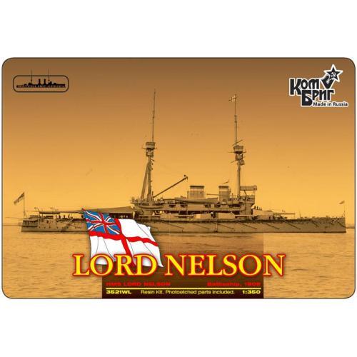 Броненосец HMS Lord Nelson Battleship, 1908 (Корпус по ватерлинию) (CG3521WL) Масштаб:  1:350