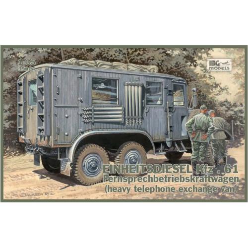Einheitsdiesel Kfz.61 Fernsprechbetriebskraftwagen (IBG35004) Масштаб:  1:35