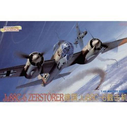 Истребитель - бомбардировщик Zerstorer Ju88C-6 (DRA5536) Масштаб:  1:48