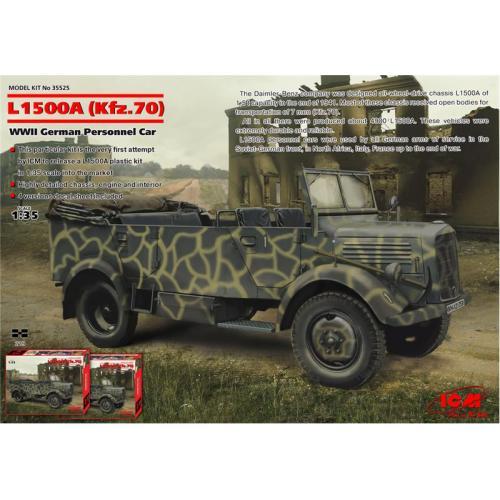 ICM35525  L1500A (Kfz.70) WWII German personnel car
