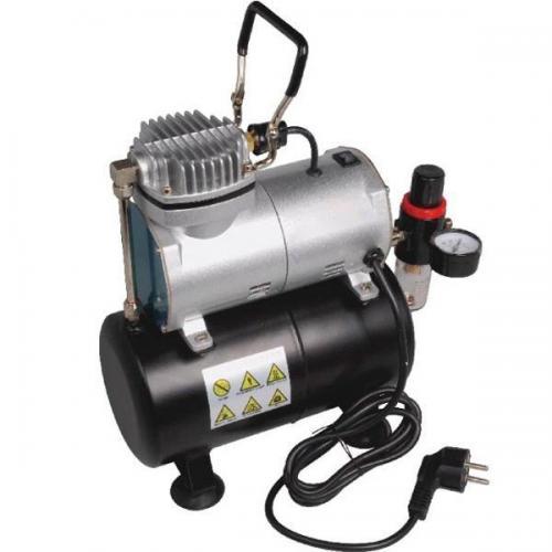 Компрессор для аэрографа с ресивером, фильтром и редуктором (FEN-AS186)