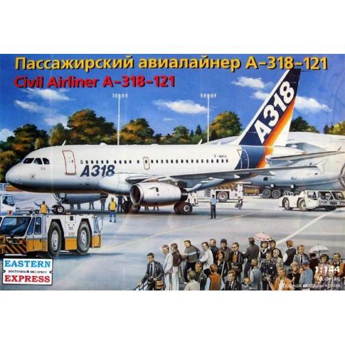 Масштабная модель пассажирского авиалайнера А-318-121 (EE14441) Масштаб:  1:144