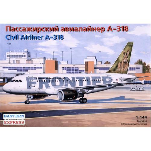 Модель пассажирского авиалайнера А-318 (EE14434) Масштаб:  1:144