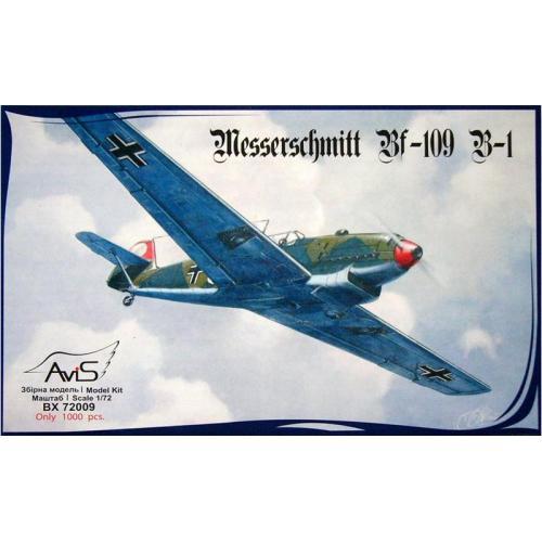 Немецкий истребитель Messerschmitt Bf-109 B-1 (AV72009) Масштаб:  1:72