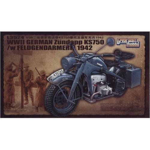 Немецкий мотоцикл Цундап  KS 750 (GWH-L3524) Масштаб:  1:35