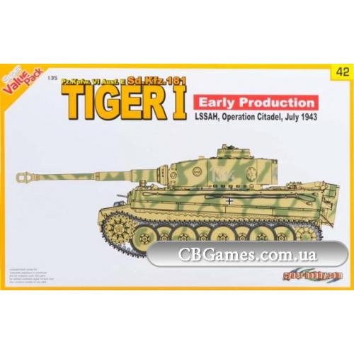 Немецкий танк Tiger I Early Production Pz.Kpfw. VI Ausf. E, Июль 1943 (DRA9142) Масштаб:  1:35