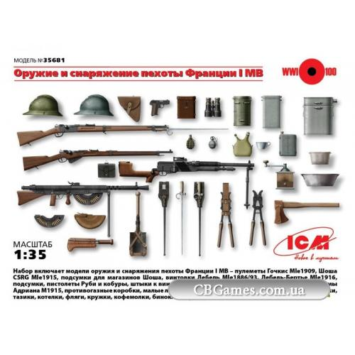 ICM35681  WWI French Infantry Weapon and Equipment