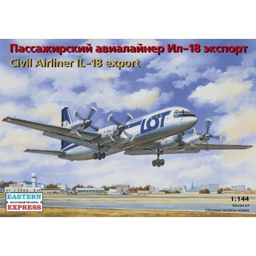 Пассажирский авиалайнер Ил-18 экспорт / Civil Airliner IL-18 export (EE14465) Масштаб:  1:144