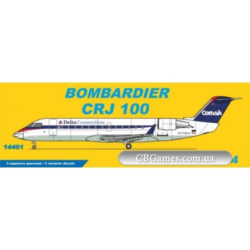 Пассажирский самолет Bombardier CRJ 100 Delta Connection Comair (BPK14401) Масштаб:  1:144