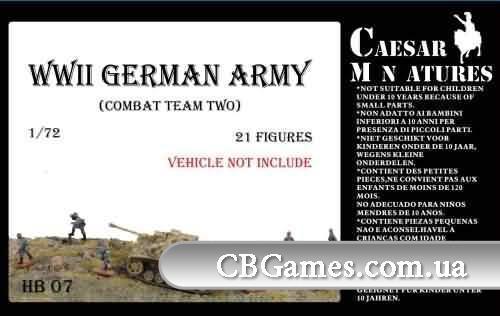 Подразделение немецкой пехоты, набор 2 (CMHB07) Масштаб:  1:72