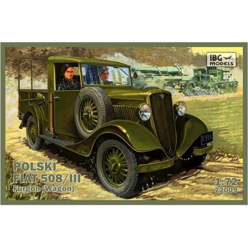 Польский Fiat 508/III (универсал) (IBG72009) Масштаб:  1:72
