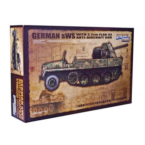 Полугусеничный траспортер sWS с 37-мм зенитным орудием (3.7cm FlaK43) (GWH-L3521) Масштаб:  1:35