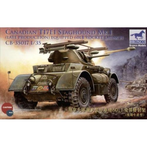 T17E1 Staghound Mk. I (Canadian, late production, w/60 lb rocket) (CB35017) Масштаб:  1:35