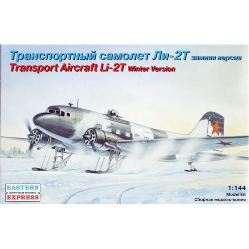 Транспортный самолет ЛИ-2Т (зимний камуфляж) (EE14432) Масштаб:  1:144