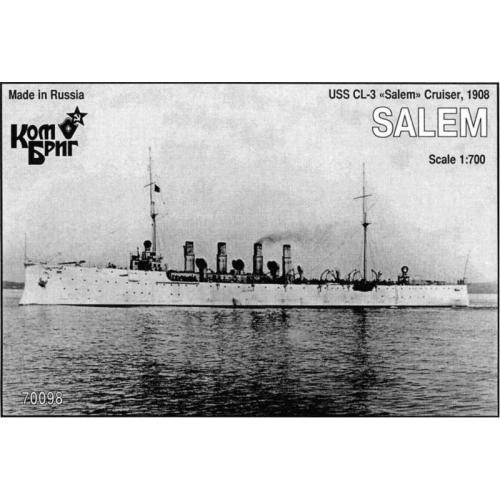 USS CL-3 Salem Cruiser, 1908 (CG70098) Масштаб:  1:700