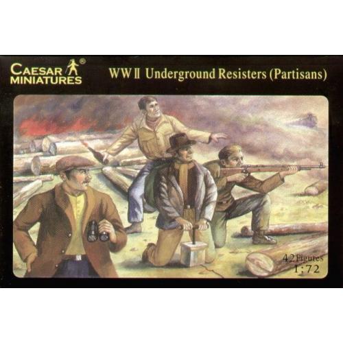 WWII Бойцы сопротивления (CMH006) Масштаб:  1:72