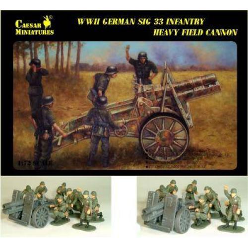 WWII German Infantry Gun SIG-33 with Crew (CMM7202) Масштаб:  1:72