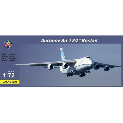 Самолет Руслан АН-124 (MSVIT7201) Масштаб:  1:72
