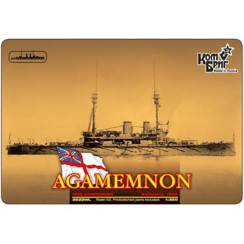 Броненосец HMS Agamemnon Battleship, 1908 (Корпус по ватерлинию) (CG3522WL) Масштаб:  1:350