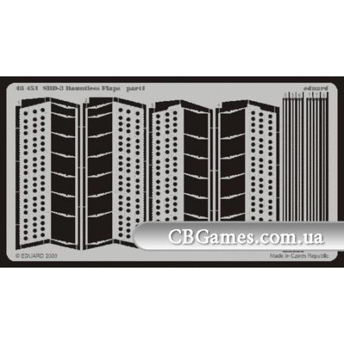 Фототравление 1/48 SBD-3 Донтлес закрылки (рекомендовано для Hasegawa) (EDU-48451) Масштаб:  1:48