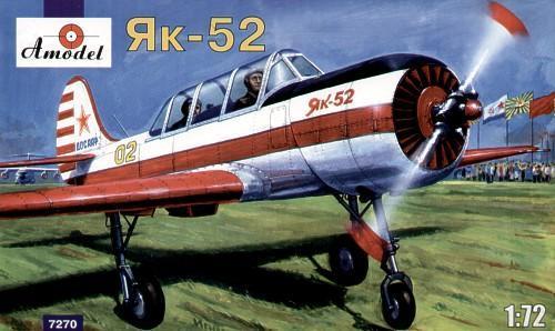 Яковлев Як-52 Двухместный спортивно-пилотажный самолёт (AMO7270) Масштаб:  1:72