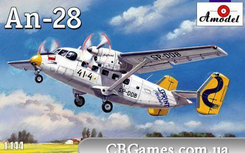 Самолет Антонов Ан-28 (AMO1457) Масштаб:  1:144