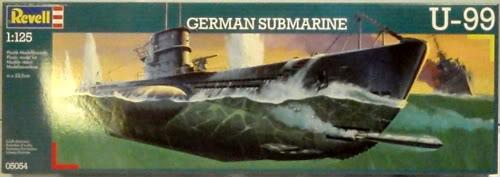 Немецкая подводная лодка U-99 (RV05054) Масштаб:  1:125
