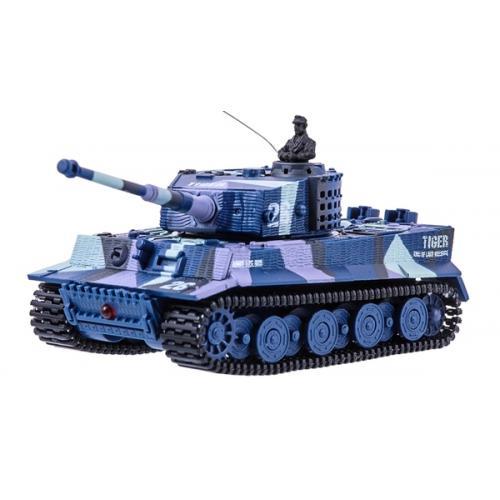 Танк микро р/у 1:72 Tiger со звуком (хаки синий) (GWT2117-3)