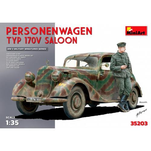 Немецкий автомобиль Personenwagen Typ 170V Saloon 1:35