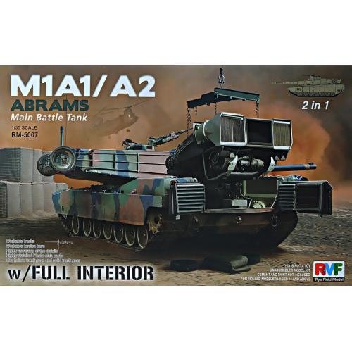 Американский танк M1A1/A2 Abrams с полным интерьером 1:35
