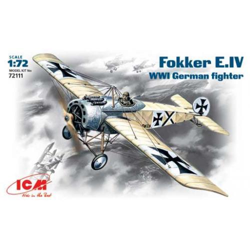 Немецкий истребитель Fokker E-IV 1:72