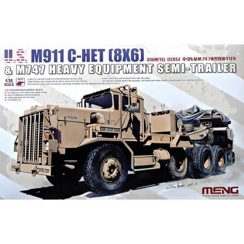 M911 C-HET (8X6) & M747 Полуприцеп для тяжелых грузов 1:35