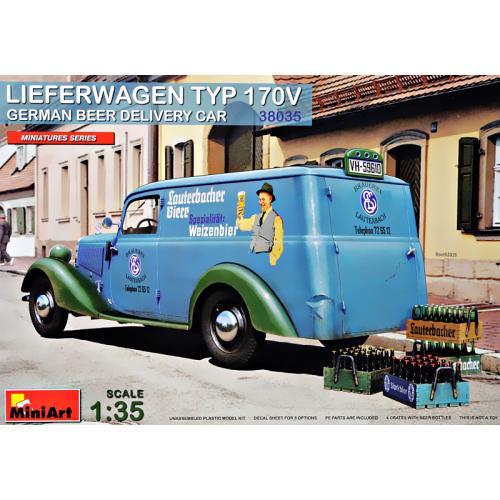 Грузовик доставки Мерседес-Бенц 170V (Немецкая машина доставки пива) 1:35
