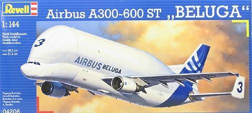 Грузовой самолёт Satic A 300-600 ST Beluga 1:144