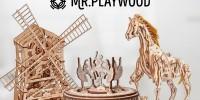 Пополнение ассортимента деревянных механических моделей!